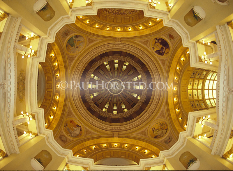 Ceiling of State Capitol dome, Pierre, S.D.