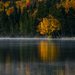 Colorful Autumn Reflections On A Lake