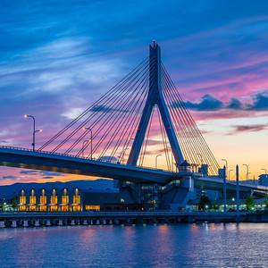 Aomori Port Bridge Sunset Square