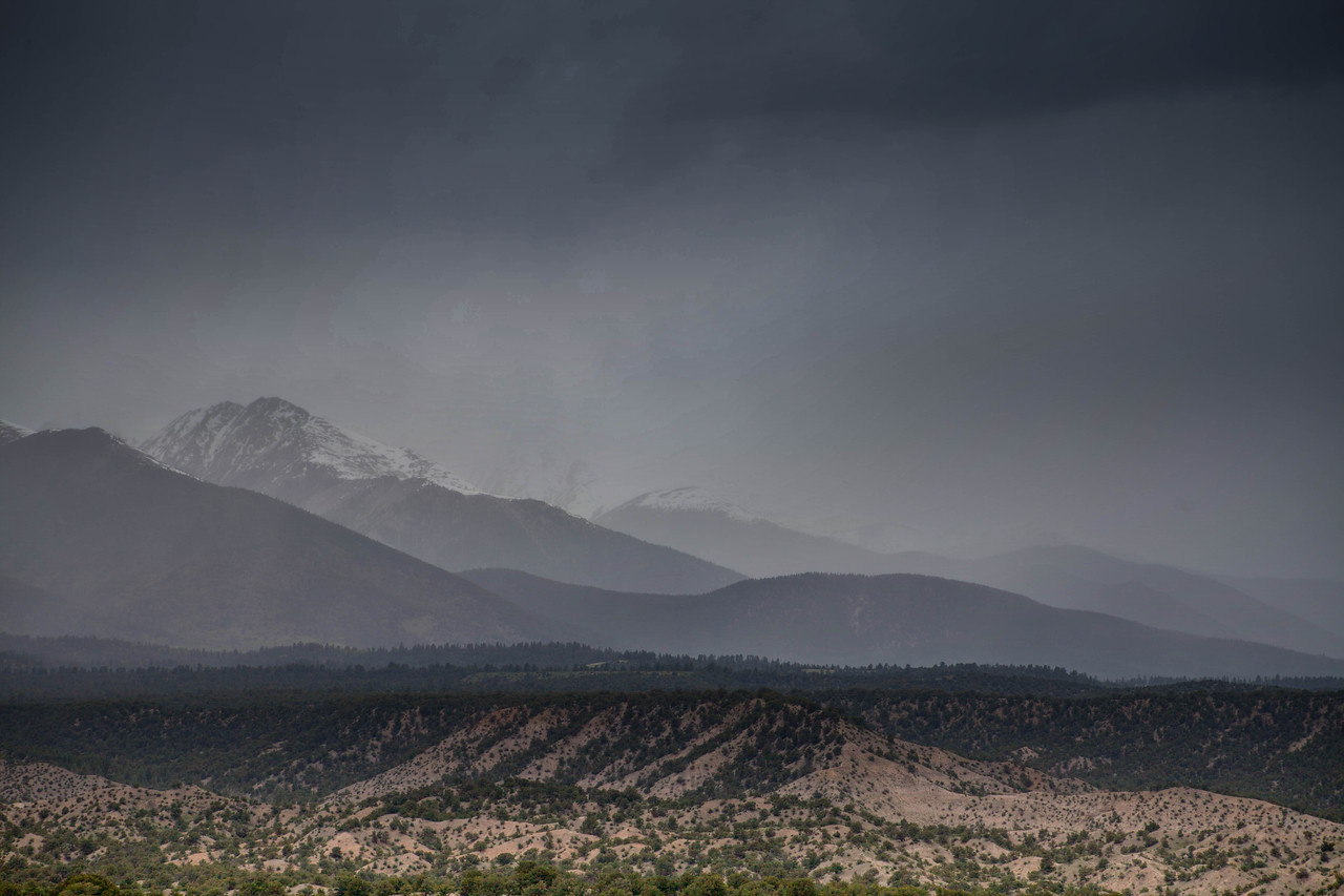 Snow Capped Mountains in the Southwest