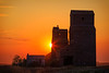 Grain Elevators at Sunset (SS1501)