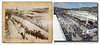 Eastmans' Studio image of Sturgis, circa 1890's. Appears to show some kind of race, possibly fire hose teams in competition. Modern image shows Sturgis Motorcycle Rally held each August at same location. Appears to be same building in foreground. Historic image courtesy Ft. Meade Cavalry Museum.    ©Paul Horsted, All Rights Reserved.