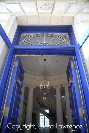 Swan House at Atlanta History Center, Georgia Blue Door and Grand Entrance of Swan House, Atlanta, GA