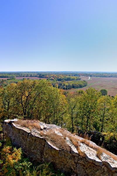 Pea Ridge Civil War Battlefield - east overlook