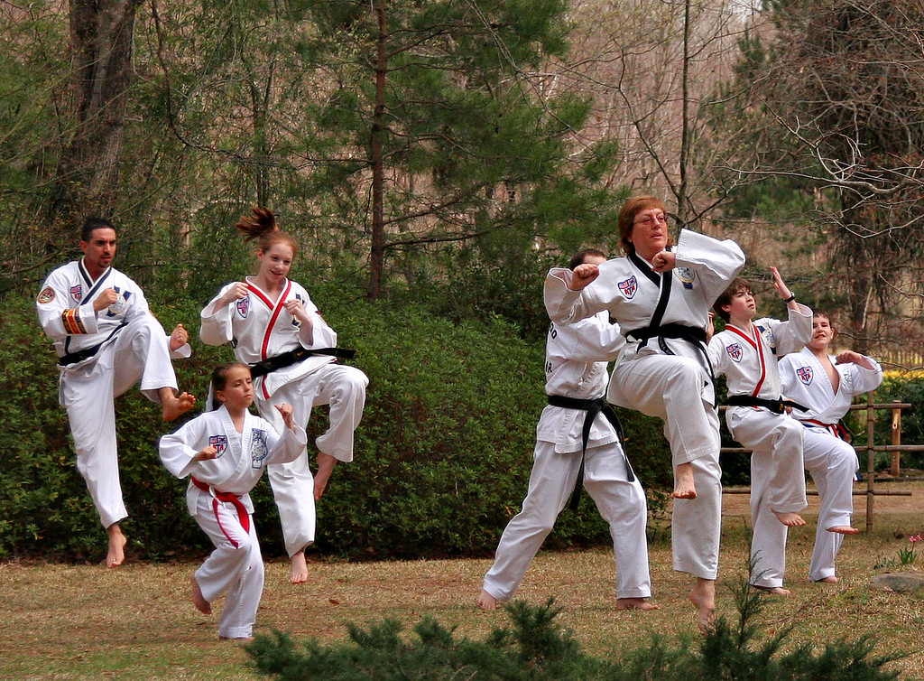 Karate Practice at The Daniel's Japanese Gardens in Camdem Arkansas