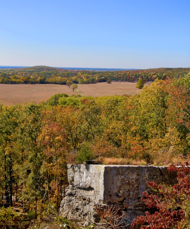 Pea Ridge Civil War Battlefield - east overlook