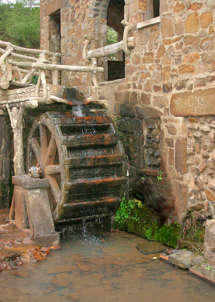 Water mill at work