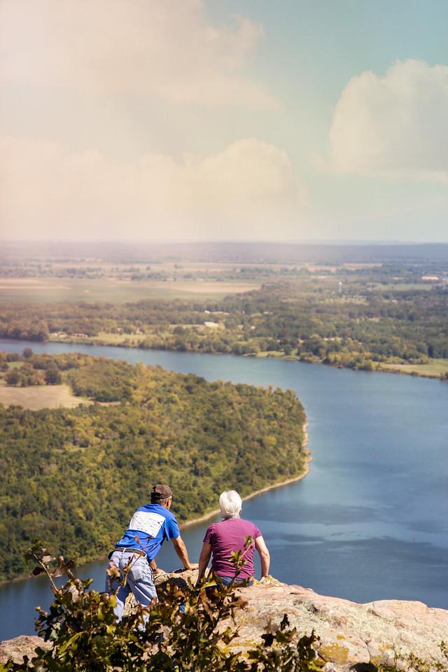 Petit Jean Mountain, overlooking the Arkansas River