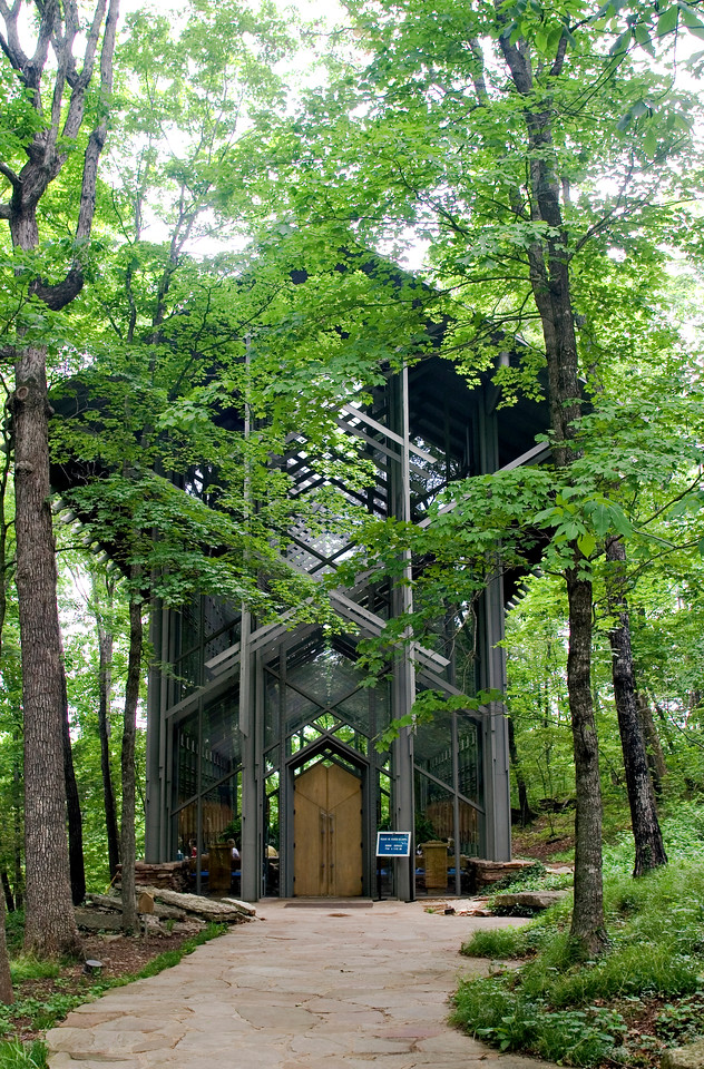 "Thorncrown Chapel - Designed and built by E. Fay Jones in 1979-1980.  Jones studied under the great architect, Frank Lloyd Wright.   More can be found, about the chapel, <a href=""http://www.thorncrown.com/"">here</a>"