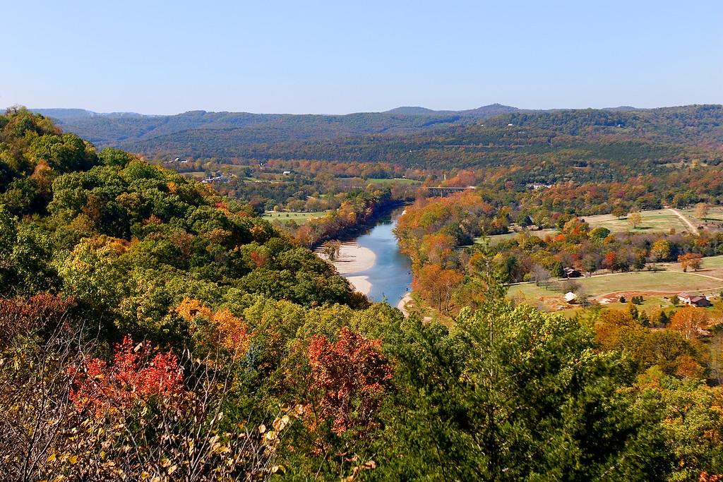 Inspiration Point just west of Eurkea Springs Arkansas - overlooks the White River.