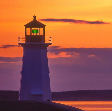 Peggy's Cove Lighthouse at Sunset_Nova Scotia