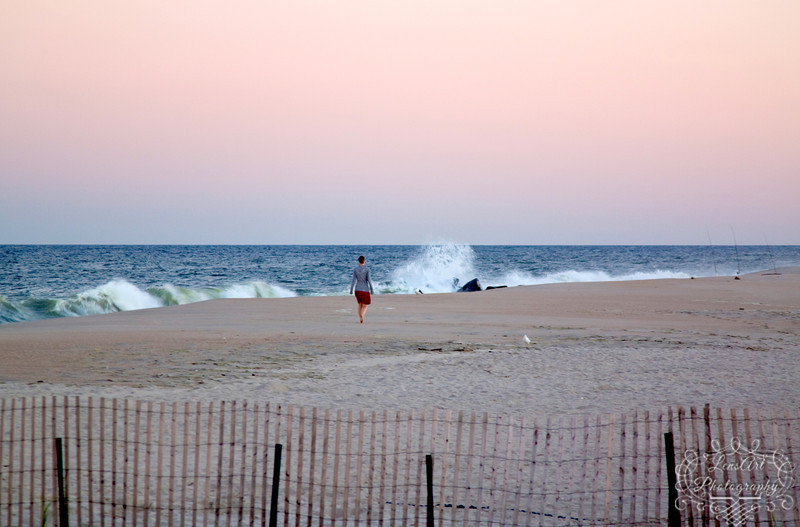 Public Beach in Sea Bright NJ - Hurricane Igor hundreds of miles away.<br><br>Sept 2010