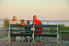 View 33: Waitin' on a Woman  In this case it's <i>women</i>.  A Grandfather, his Son and Grandchildren sitting on an Ocean City (New Jersey) Boardwalk bench overlooking the Atlantic ocean waiting for the women in their lives to return from the nearby shops.