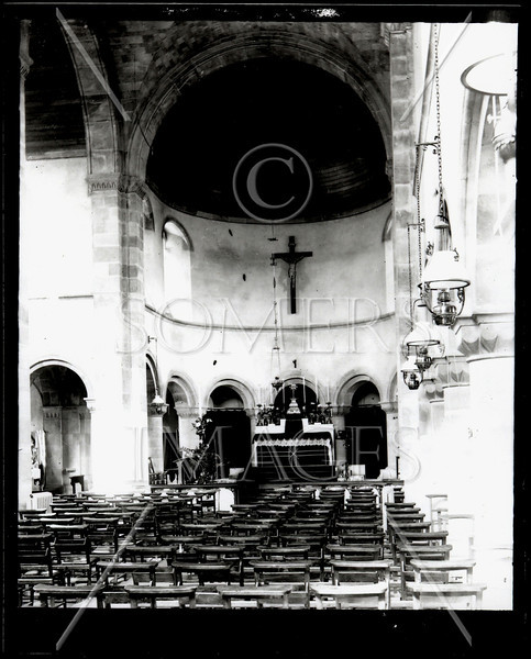 Catholic Church Interior - Southwest U.S. - from glass plate negative