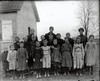 Turn-of-the-century school - teacher and students - rural central Illinois.