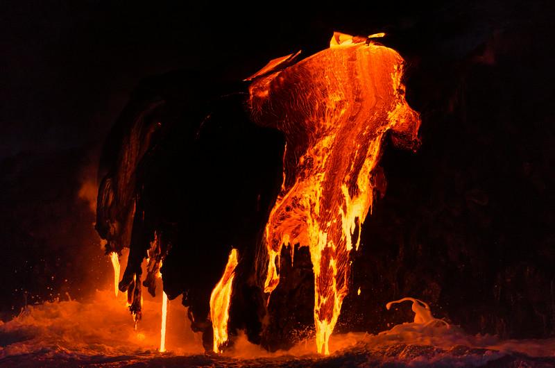 Night Lava Flow