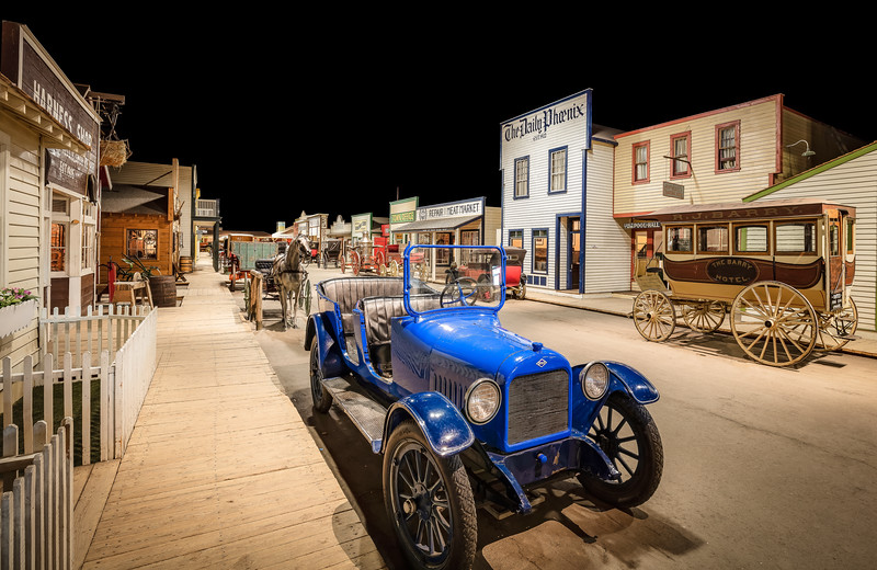 The Blue Car of 1910 Boomtown (WDM1823)