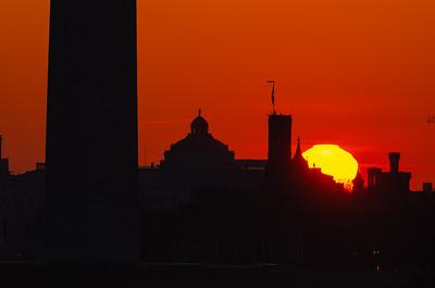 Sunrise over the Smithsonian