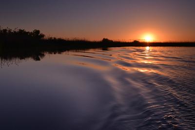 Apus in Delta Dunarii - valuri