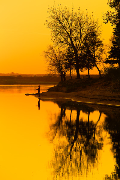 Golden Sunset over the River  (WA1205)