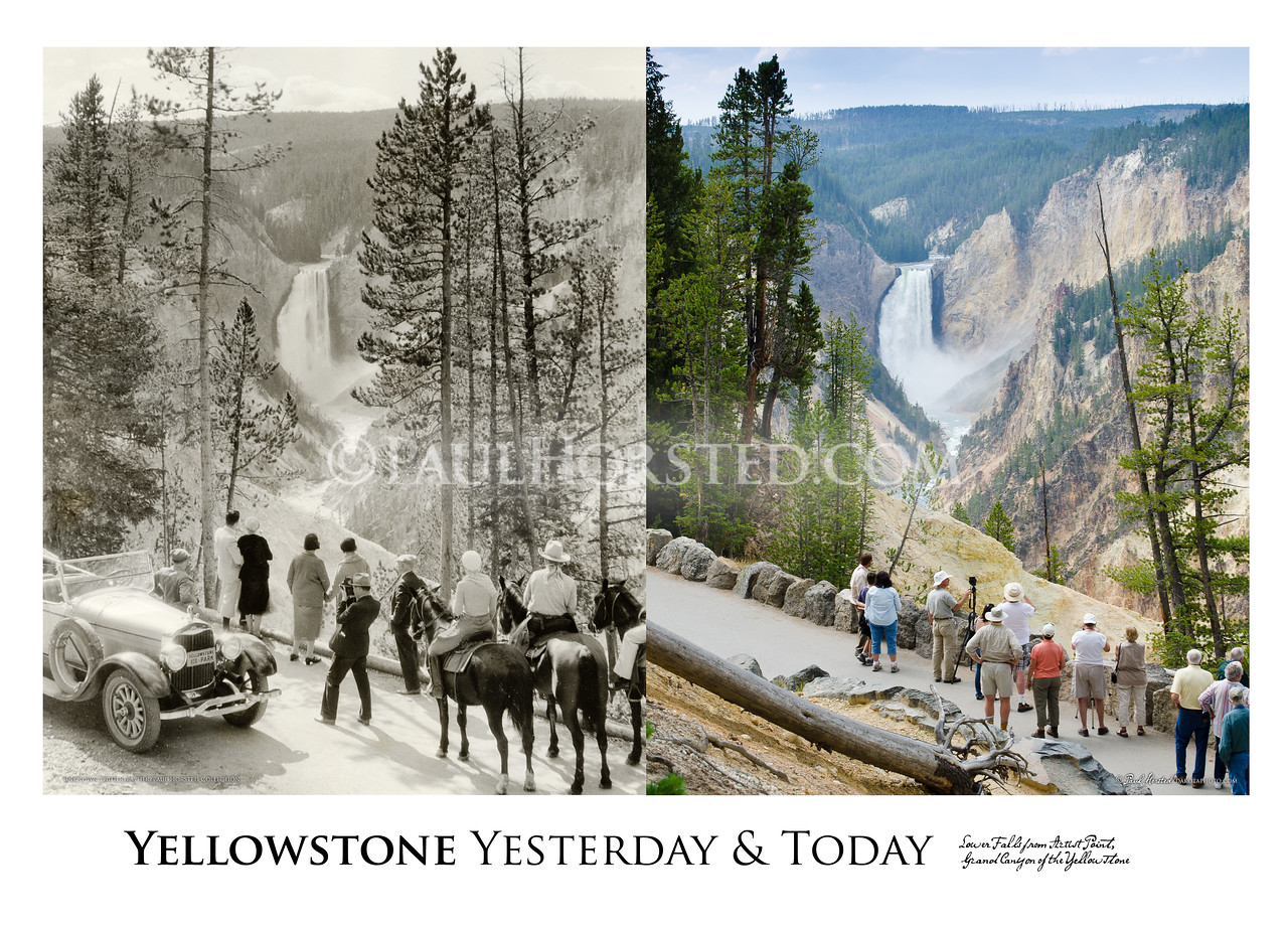 Lower Falls from Artist Point Yesterday & Today