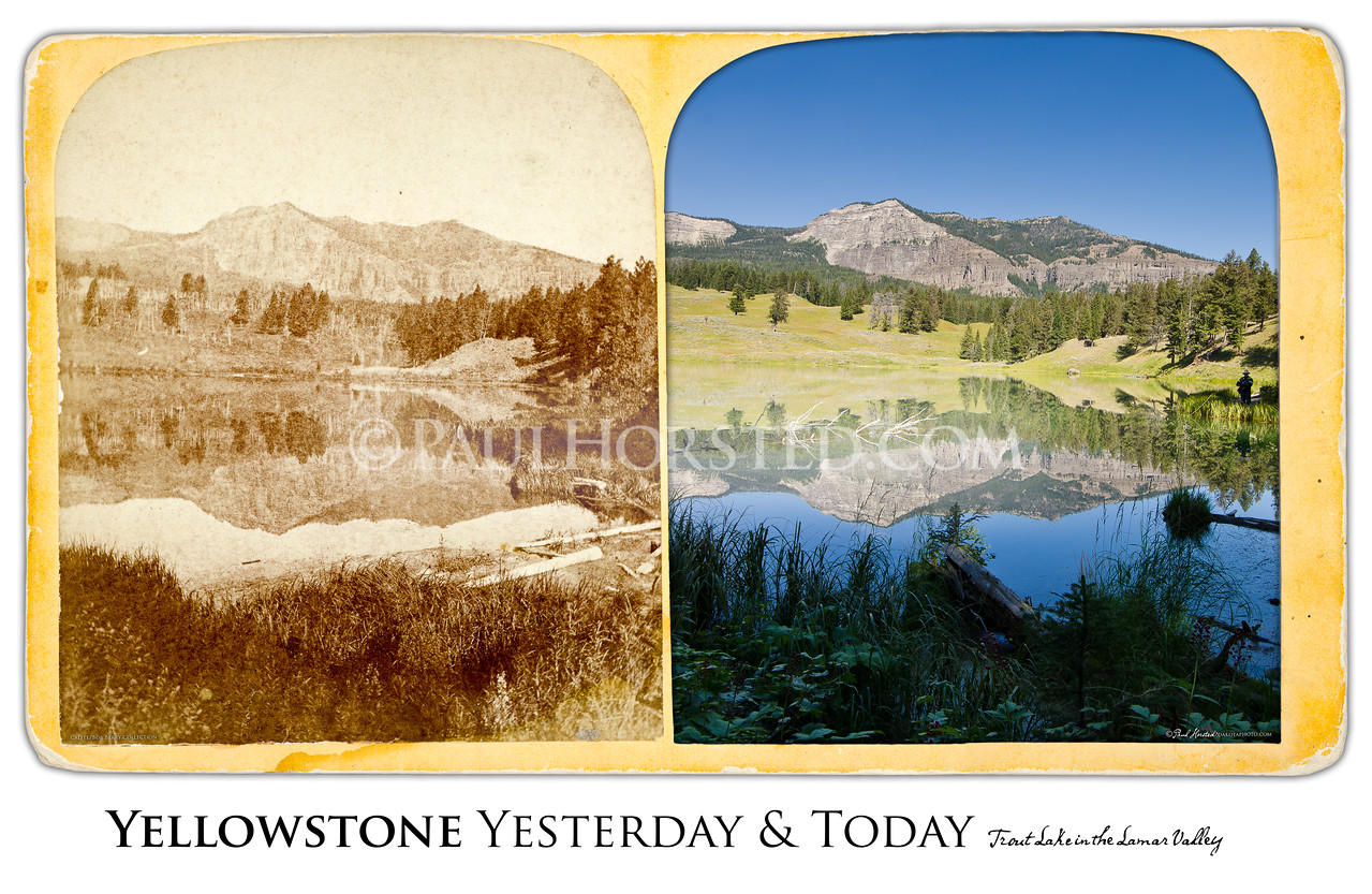 Trout Lake in the Lamar Valley Yesterday & Today