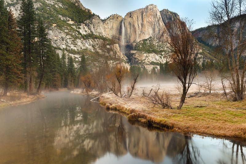 Yosemite Falls Winter Dawn