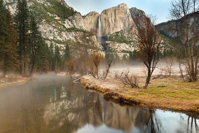 Yosemite Falls Winter Dawn