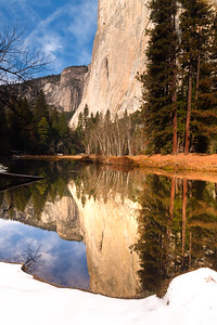 El Capitan Reflected in Merced River