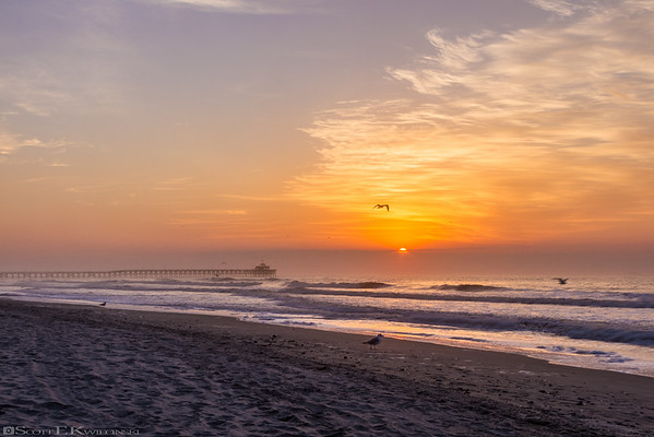 Sunrise Over Cherry Grove Pier
