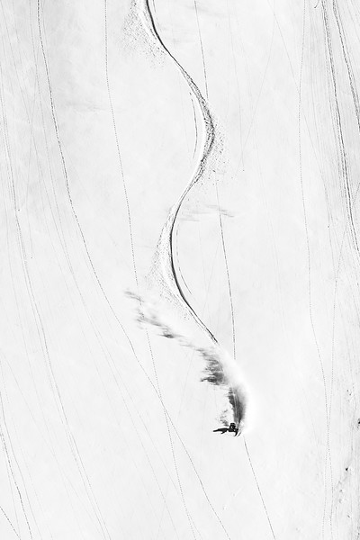 Dave Treadway arcing his way in the Whistler backcountry