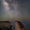 The Milky Way over Shark Fin Cove, Davenport, CA