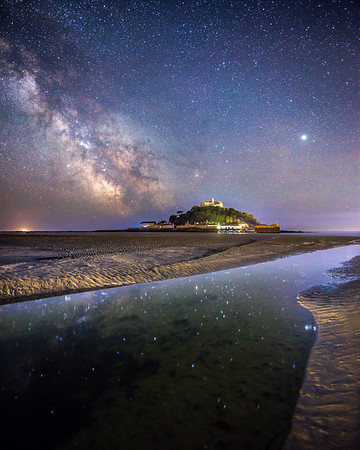 Milky Way Reflections at the Mount