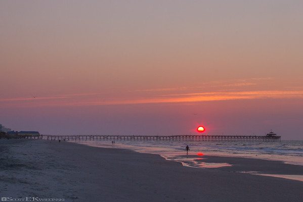 Sunrise Over Cherry Grove Pier - 9/11/16