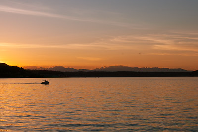 Olympic Mountains Sunset