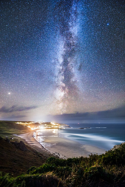 Sennen Cove under the Milky Way
