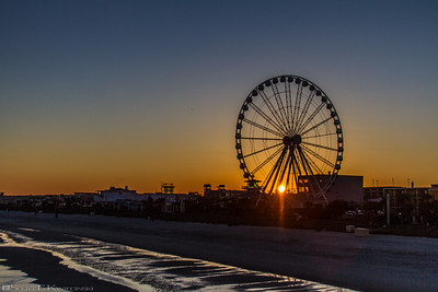 Myrtle Beach Skywheel At Sunset 1