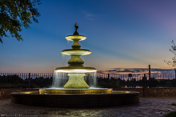 Georgetown Fountain At Sunset