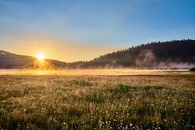 Sunrise over Webber Lake