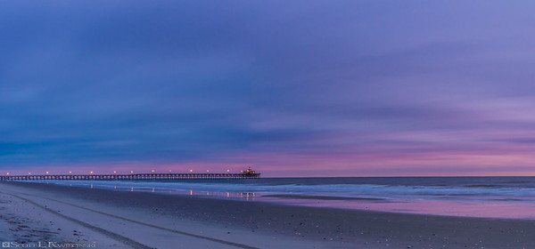 Purple Sunrise Over Cherry Grove Pier