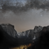 The Milky Way over Yosemite Valley, from Tunnel View