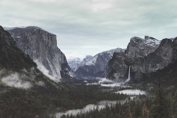 Morning Fog at Tunnel View