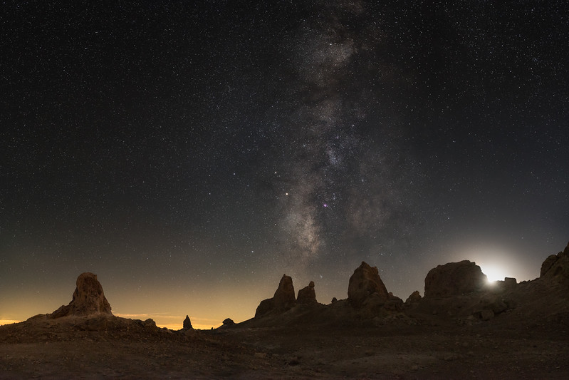 The Milky Way over Trona Pinnacles National Preserve
