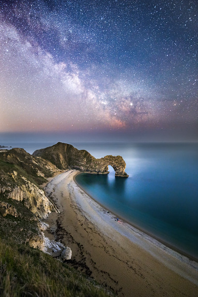 Durdle Door under the Milky Way