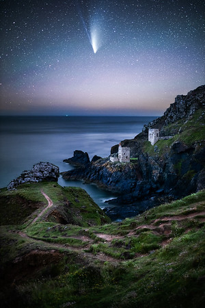 Comet Neowise Over Botallack Crown Mine