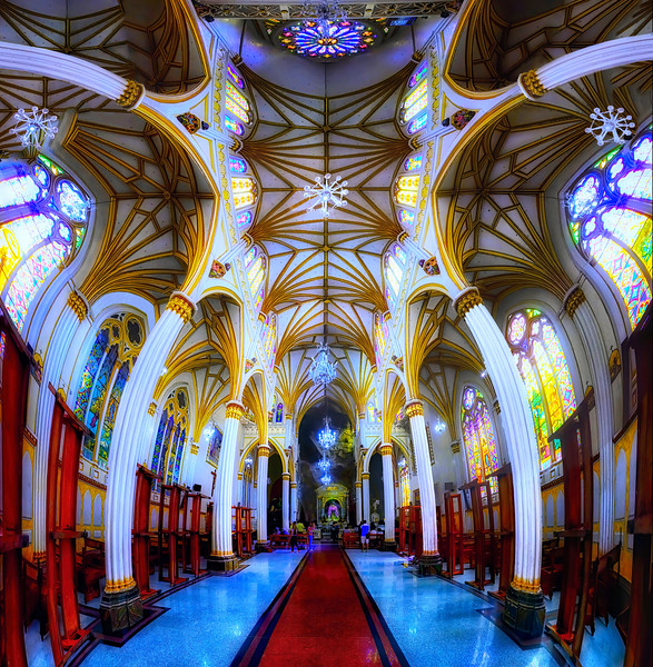 Colombia. Las Lajas Cathedral