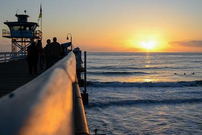 Pier Rail Sunset
