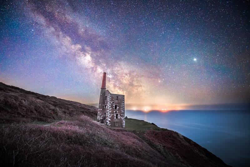 Wheal Prosper under the Milky Way