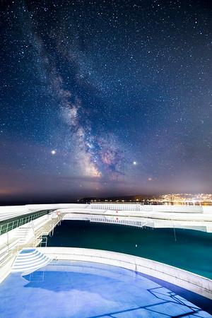 Milky Way over Jubilee Pool