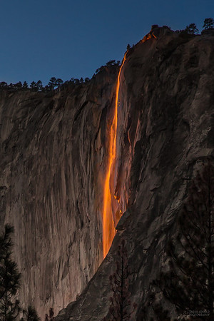"""""""Fire Falls""""- Horsetail Falls Yosemite, California"""